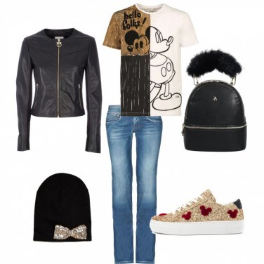 Outfit Sneakers glamour!