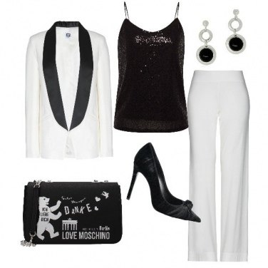 Outfit Tuxedo bianco