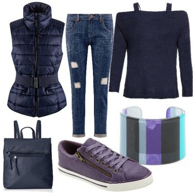 Outfit Le Sneakers Viola