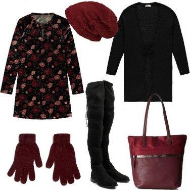 Outfit Mini abito in velluto