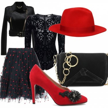 Outfit Rosso & nero