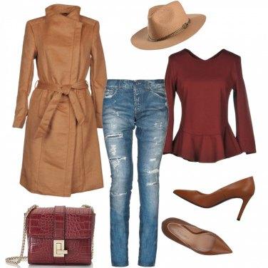 Outfit Jeans, cappello e cappotto