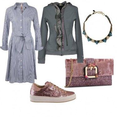 Outfit Semplice ma con tocco glamour