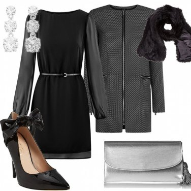 Outfit Nero low cost elegante
