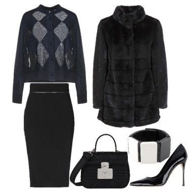 Outfit Cardigan e Pencil Skirt