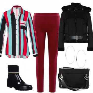 Outfit Righe di moda