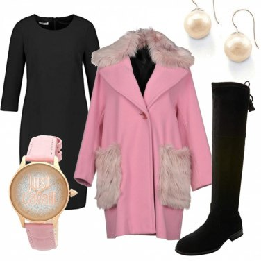 Outfit Cappotto rosa