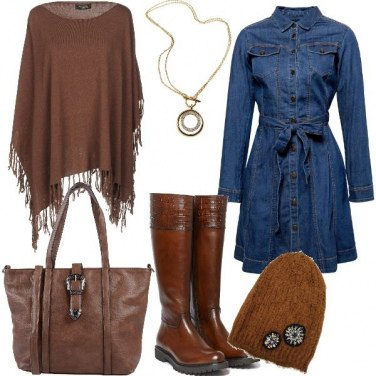 Outfit Vestito jeans
