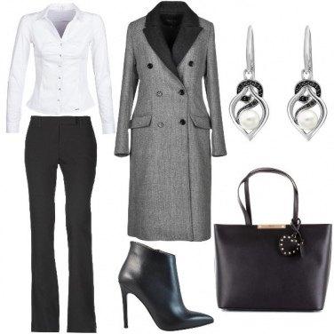 Outfit Tonalità bianco e nere