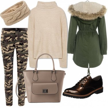 Outfit Militar chic