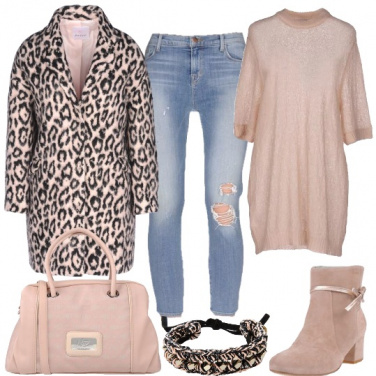 Outfit Animalier e nude