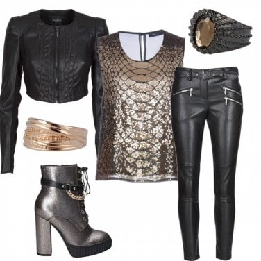 Outfit Rock & glamour