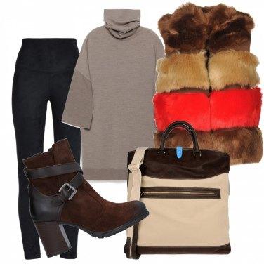 Outfit Gilet ecopelliccia