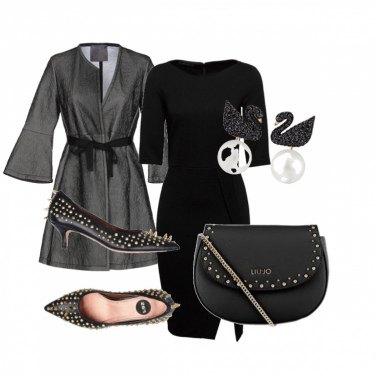 Outfit Cigno nero e borchie