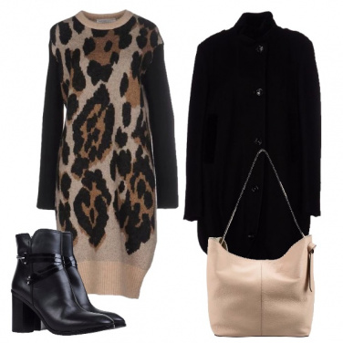 Outfit Animalier in lana