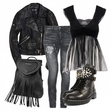 Outfit Rock'n'roll lady style