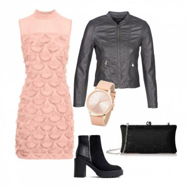 Outfit Serata in rosa