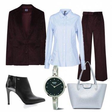 Outfit Stivaletti effetto specchiato