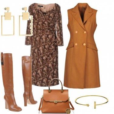 Outfit Cuoio e oro