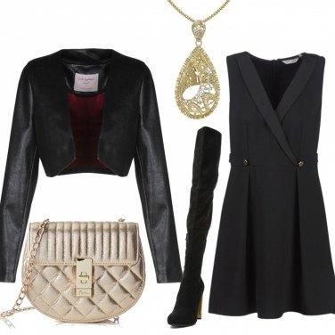 Outfit Il tacco dorato