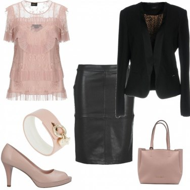 Outfit Gonna in pelle per l\'ufficio