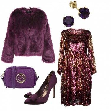 Outfit Viola di sera...