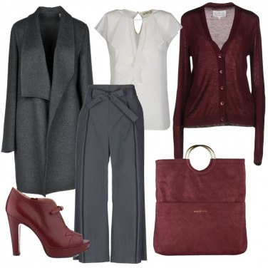 Outfit Professional burgundy