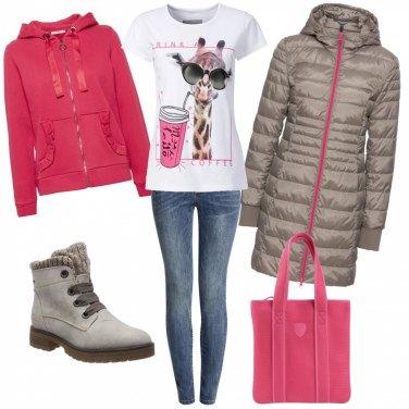 Outfit Quel tocco rosa fragola