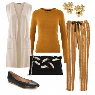 Outfit Con i pantaloni a righe
