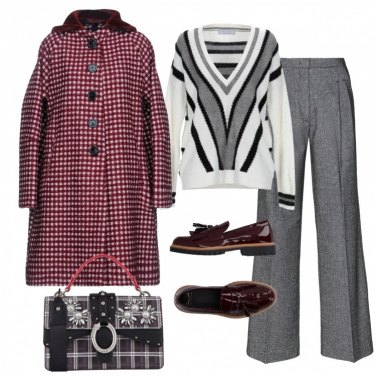 Outfit Quadretti bon ton