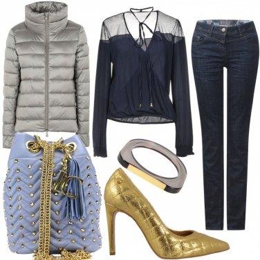 Outfit Il fascino Glam del trapuntato