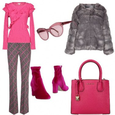 Outfit Fucsia in inverno