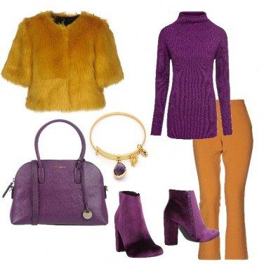 Outfit Ocra e viola
