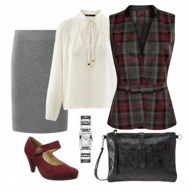 Outfit Tartan elegante