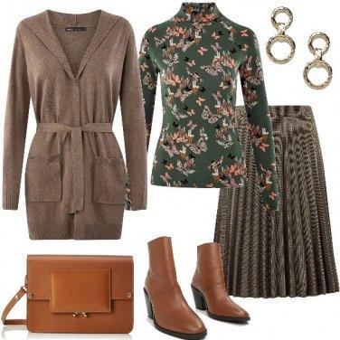 Outfit Bon ton con gli stivaletti.