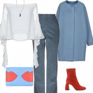 Outfit Trendy con tocco arancio
