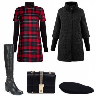 Outfit Effetto tartan