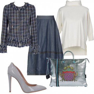 Outfit Urban chic con gonna in jeans