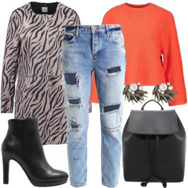 Outfit Il cappottino zebrato