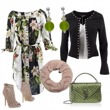 Outfit Chemisier con stampa floreale
