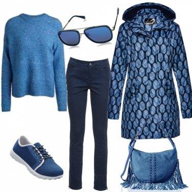 Outfit Giubotto fantasia per il tempo libero