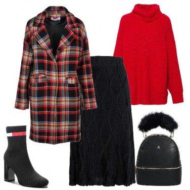 Outfit Nero rosso e..