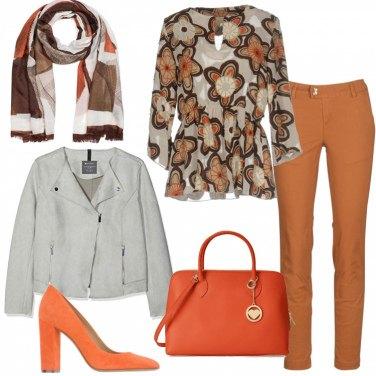 Outfit Chiodo e pashmina