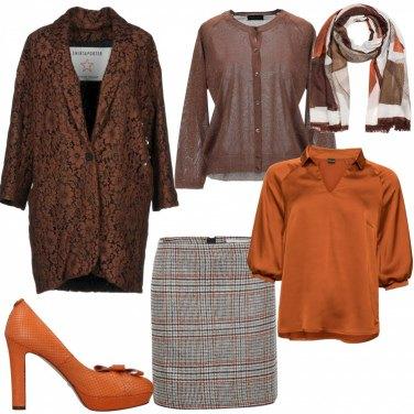 Outfit Mix fiori e scacchi
