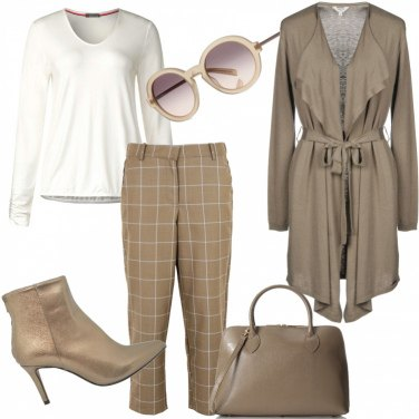 Outfit Pantalone a scacchi
