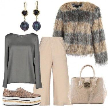 Outfit Beige e glitter