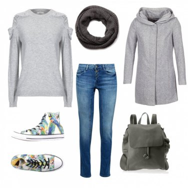Outfit Converse multicolore
