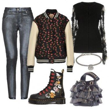 Outfit Anfibio flatform ricamato