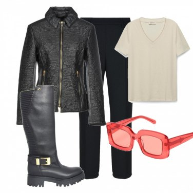 Outfit Biker\'s style