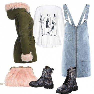 Outfit Parka e salopette